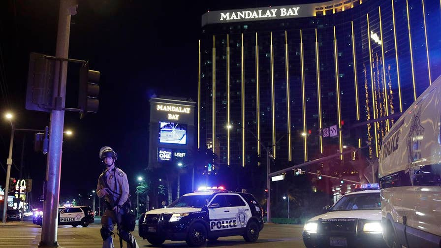 Authorities say Stephen Paddock shot a security guard 6 minutes before massacre began; Dan Springer reports on the latest in the investigation.