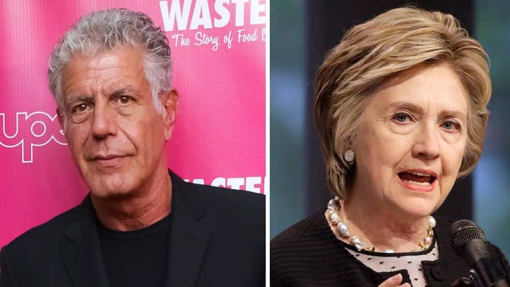 Anthony Bourdain calls Hillary Clinton interview 'shameful'