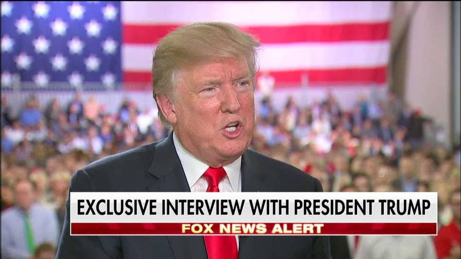 Trump to Hannity: NFL Players 'Cannot Disrespect Our Country, Our Flag or Our Anthem'