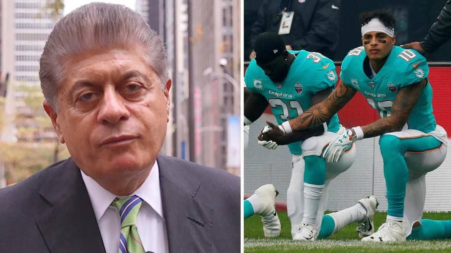Judge Napolitano's Chambers: Judge Andrew Napolitano explains why NFL players taking a knee during the national anthem is not necessarily protected speech.