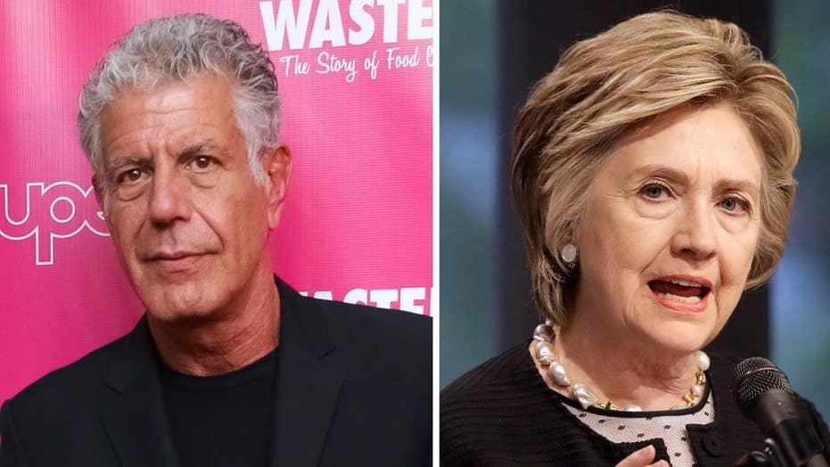 Anthony Bourdain calls Hillary Clinton interview 'shameful'