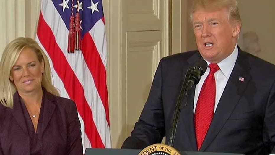 Trump nominates Kirstjen Nielsen as the new DHS secretary