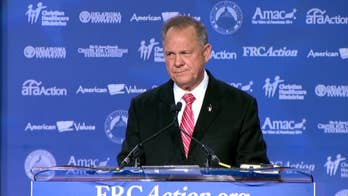Republican candidate for Alabama Senate seat rails against 'stagnancy' in Washington at the Family Research Council's Values Voter Summit.