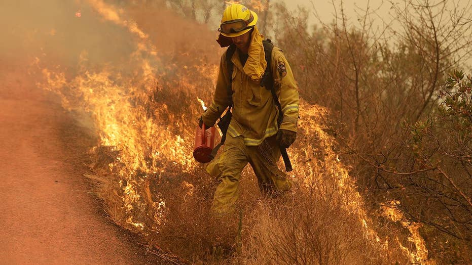California firefighters work overtime battling wildfires