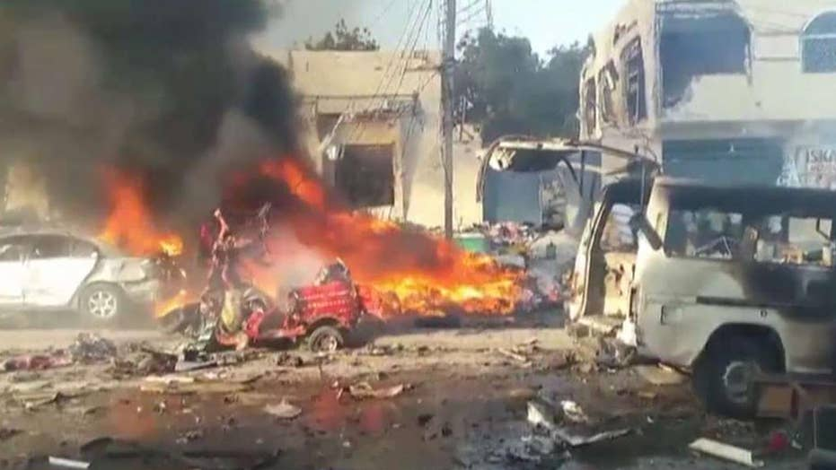 Death toll rises after massive truck bombing in Somalia