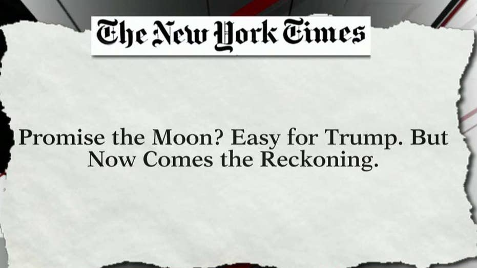 Trump accuses NY TImes article of ignoring accomplishments