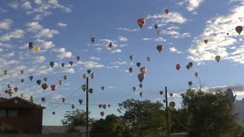A competitive hot air ballooning challenge at the Albuquerque International Balloon Fiesta put pilots to the test as they navigated their way through the skies and dropped markers on targets.