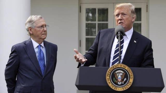 Trump, McConnell pledge unity on Republican agenda