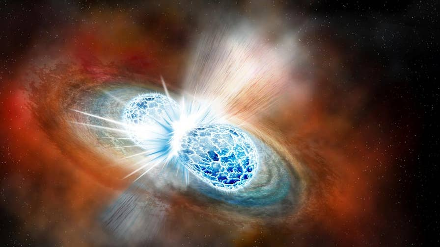 By closely observing two stars in outer space, and watching as the stars crashed into each other, back in August, scientists in the U.S. and Europe say they've now been able to unlock multiple secrets.