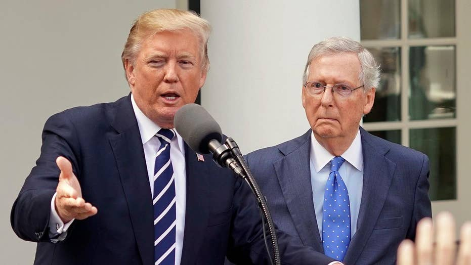 Trump, McConnell smooth things over amid tax reform push