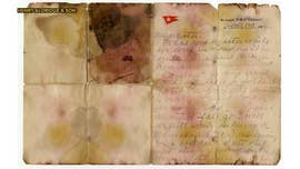 An extremely rare sea-stained letter recovered from the body of a Titanic victim was sold at auction in the U.K. on Saturday for $166,000.