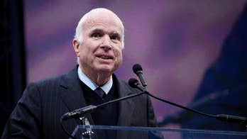 John McCain (R., Ariz.) blasts 'half-baked, spurious nationalism' while accepting the Liberty Medal, which honors service and sacrifice to the country. Many speculate it was a harsh critique of the Trump administration.