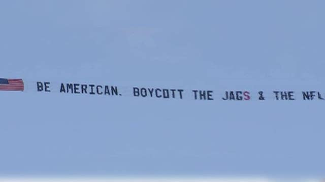 Former fan takes 'Boycott the Jags and the NFL' to the sky