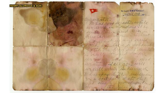 Titanic victim's sea-stained letter up for auction