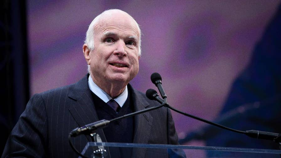 John McCain blasts nationalism while accepting the Liberty Medal, which honors service and sacrifice to the country. Many speculate it was a harsh critique of the Trump administration.