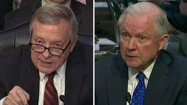 Attorney General Jeff Sessions sparred with Sen. Dick Durbin Wednesday over Chicago's murder rate -- and the prospect of federal funding potentially being cut amid the city's resistance to the Trump administration's immigration policies.