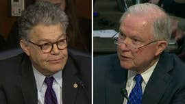 Attorney General Jeff Sessions publicly and repeatedly clashed with Democratic Sen. Al Franken on Wednesday after being pressed over the accuracy of past testimony regarding his communications with the Russians during the 2016 presidential campaign.