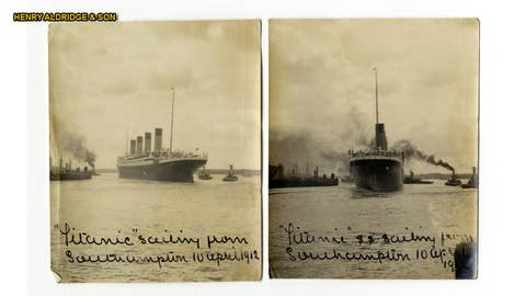 Rare Titanic photos up for auction
