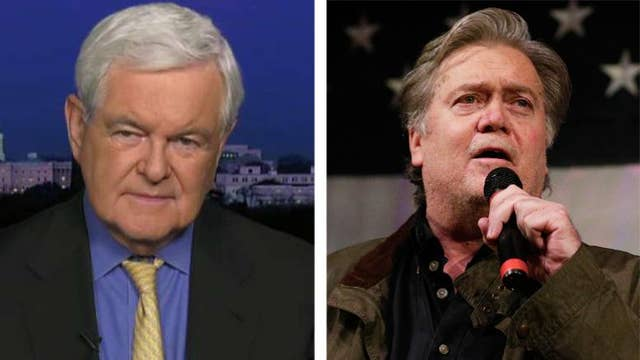 Gingrich: Bannon's war against Republicans is 'absurd'
