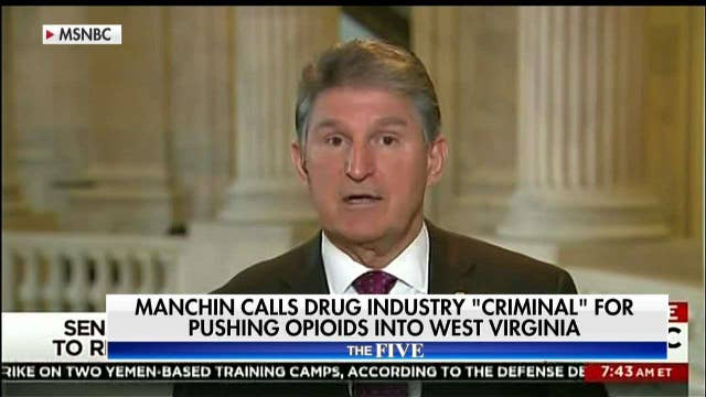 """Manchin calls drug industry """"criminal"""" for pushing opioids into WV."""