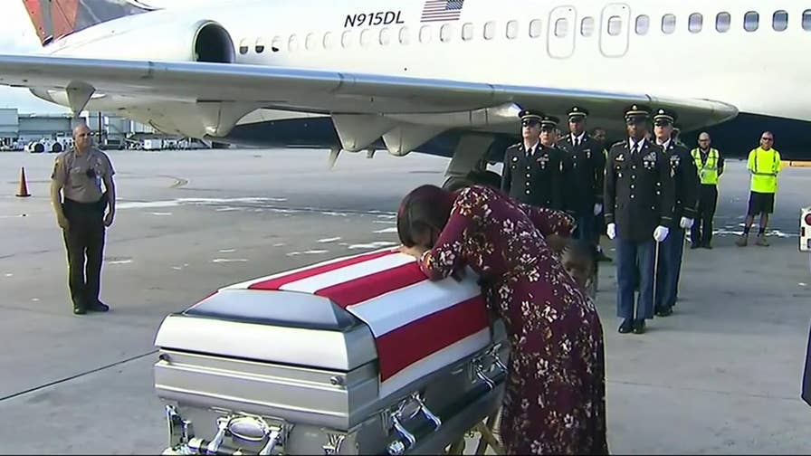 "Rep. Frederica Wilson (D-Fla.) says President Trump told Army Sgt. La David Johnson's widow 'he knew what he was signing up for."" Her comments prompted backlash from the president."