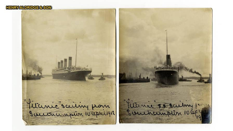 Two new detailed images of the Titanic show the doomed liner leaving Southampton Harbor in the U.K. on April 10, 1912 with tugs and other vessels clearly in view.