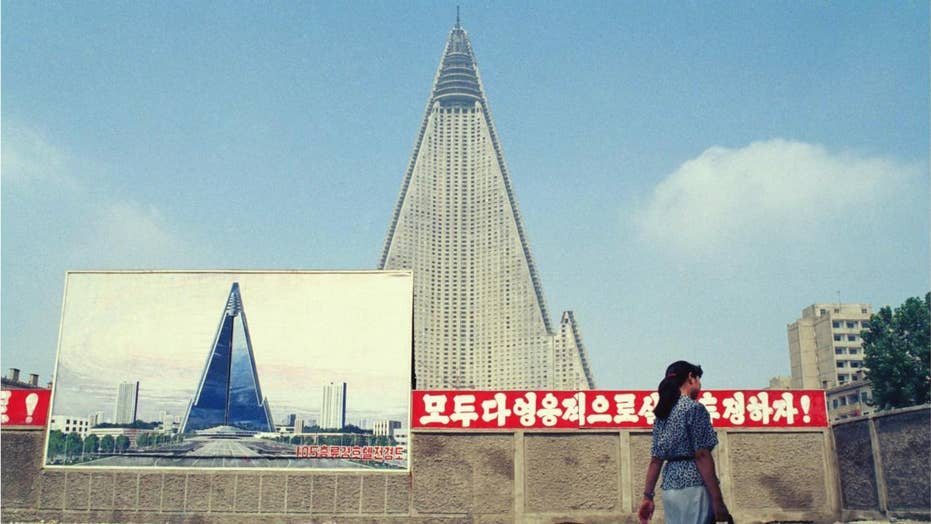 North Korea's 'Hotel of Doom' shows signs of activity