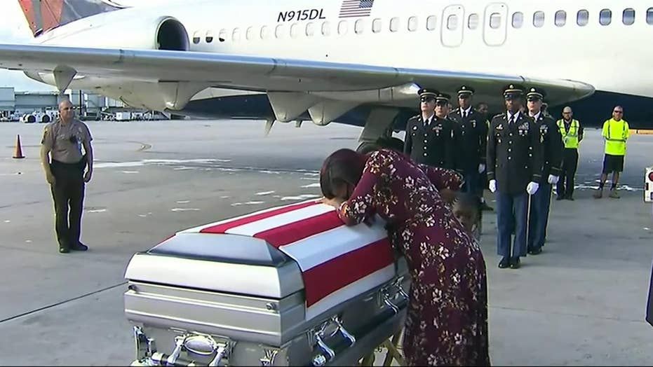 Trump's call with fallen soldier's widow gets political