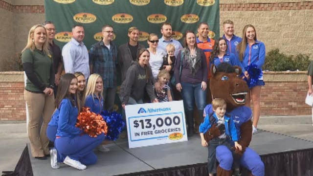Store surprises military families with free groceries