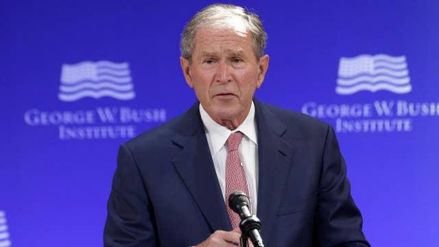 George Bush decries bigotry and white supremacy