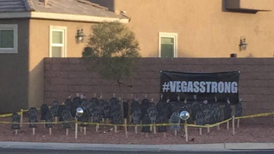 Debate over Halloween tombstones for Vegas shooting victims