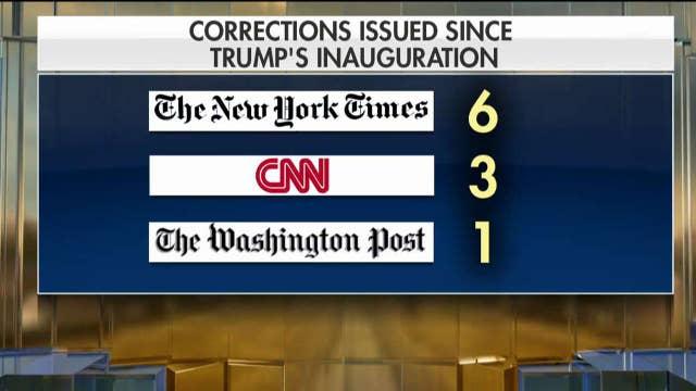 Mainstream media racks up President Trump retractions