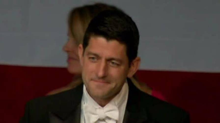 Speaker of the House makes jokes at charity event.