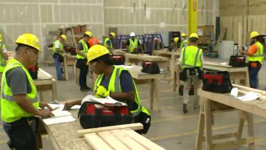Construction companies struggle to find workers.