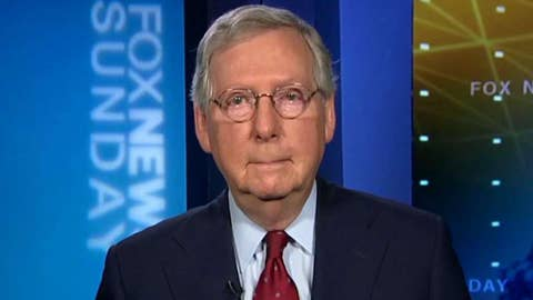 Mitch McConnell on his united front with President Trump