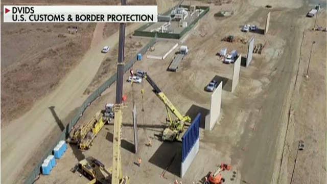 Border wall prototypes revealed