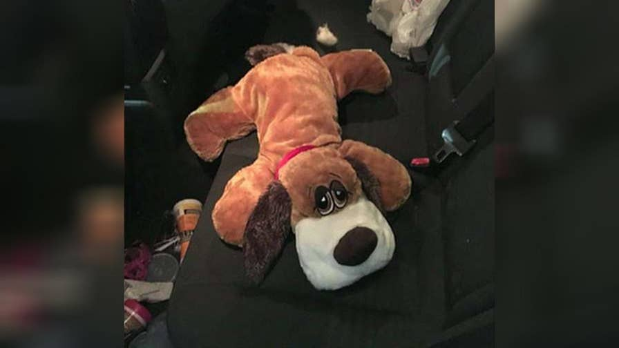 Two pounds of meth found hidden in stuffed animal.