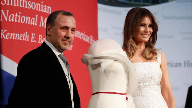 Melania Trump donates inaugural ball gown to Smithsonian