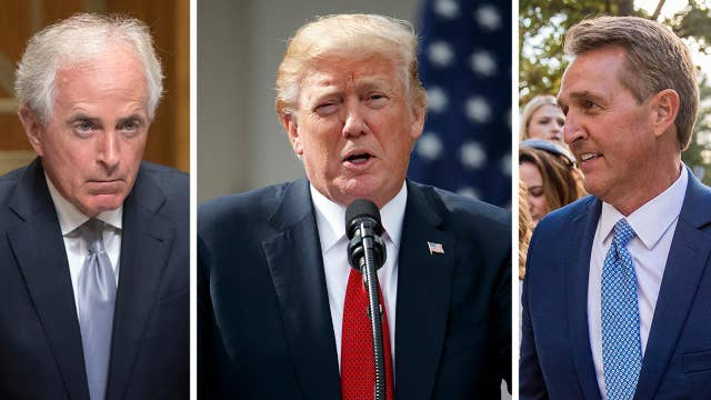 Flake, Corker go to war with Trump over his leadership