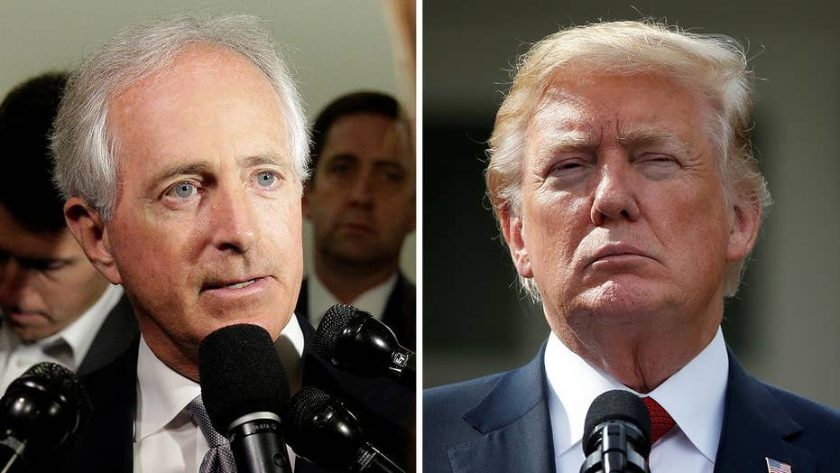Corker: Everybody sees through Trump's 'attempted bullying'
