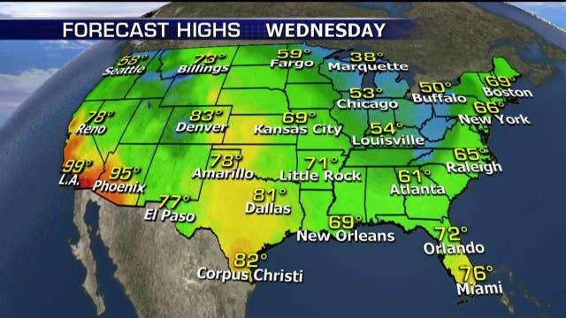 National forecast for Wednesday, October 25