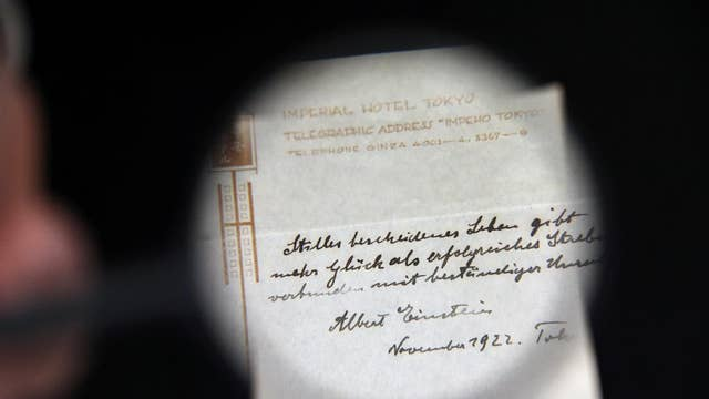 Einstein's theory of happiness sold for $1.6 million: What is it?