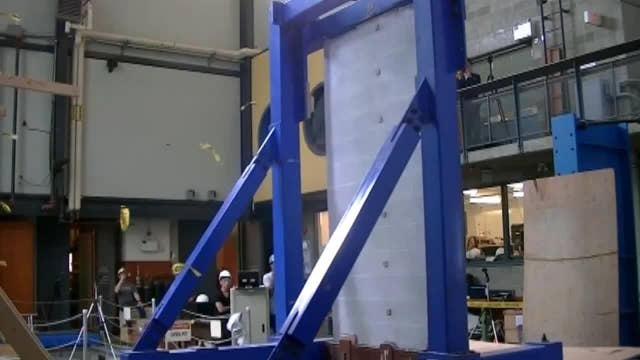 Researchers testing earthquake-resistant concrete