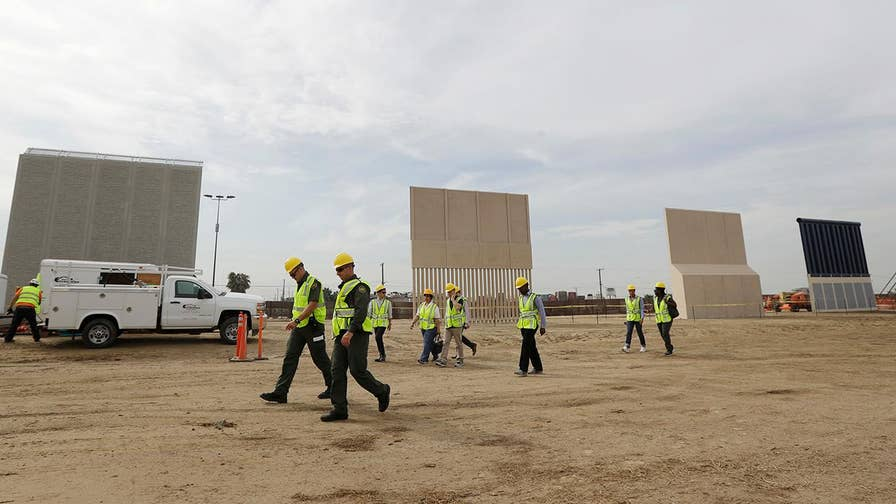 The 30-foot walls are in place and ready to be replicated along the southern border.