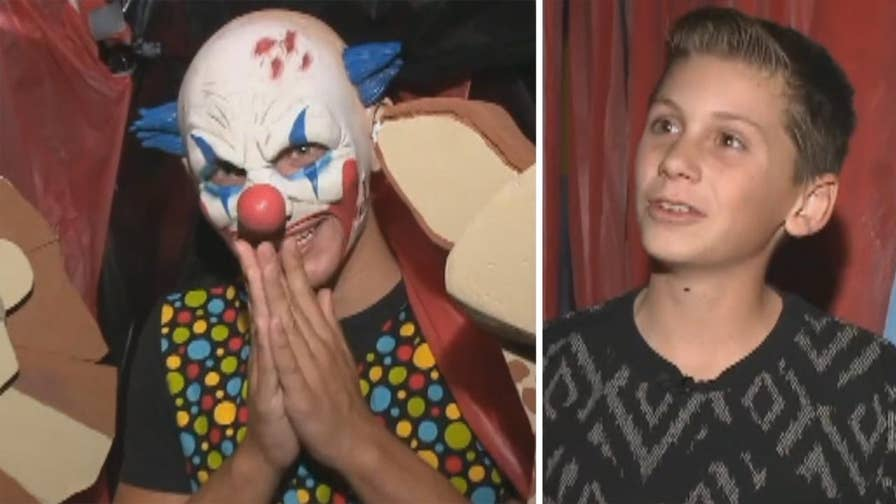 California teen donating money raised at haunted house to American Cancer Society in honor of his grandmother.