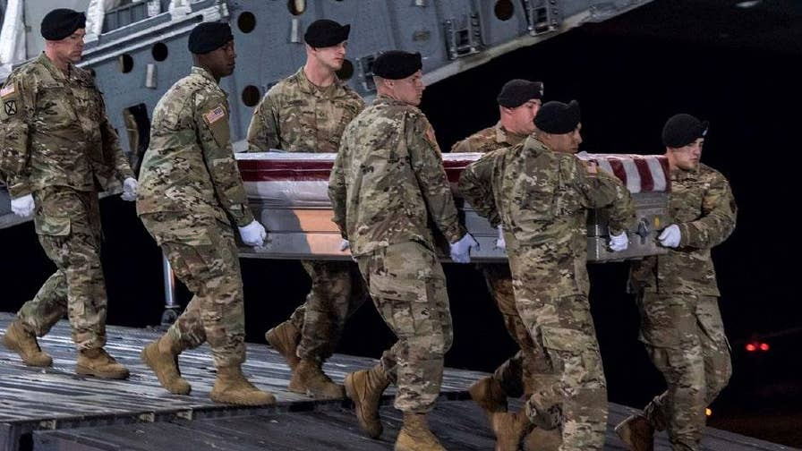 Defense officials hold closed-door briefings on deadly ambush that killed four American troops; national security correspondent Jennifer Griffin reports.