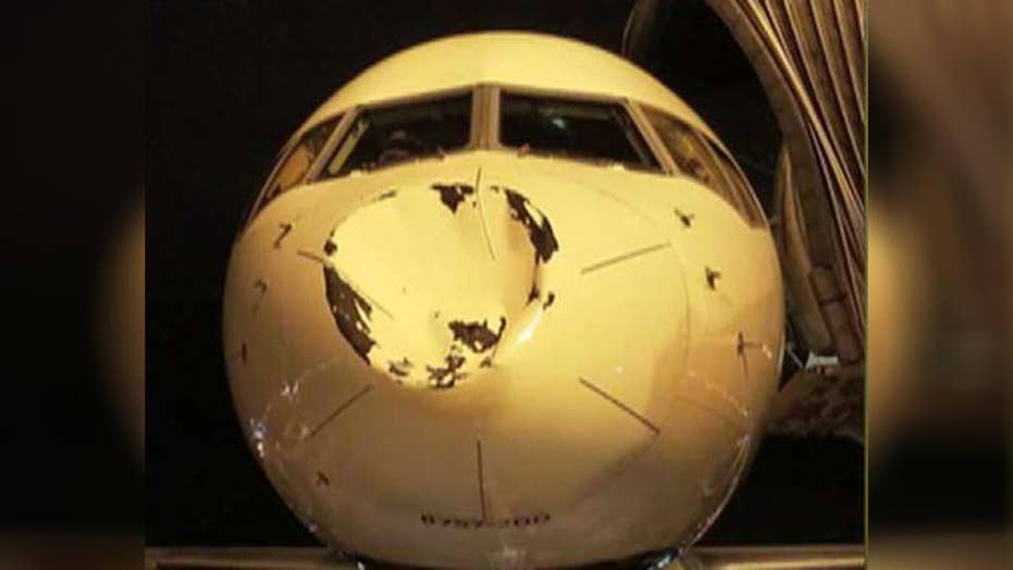 Oklahoma City Thunder plane damaged mid-air