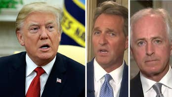 Praising Flake, Corker for attacking Trump.
