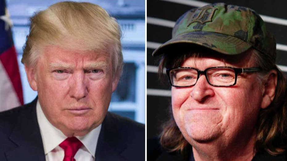 President Trump bashes Michael Moore's Broadway show