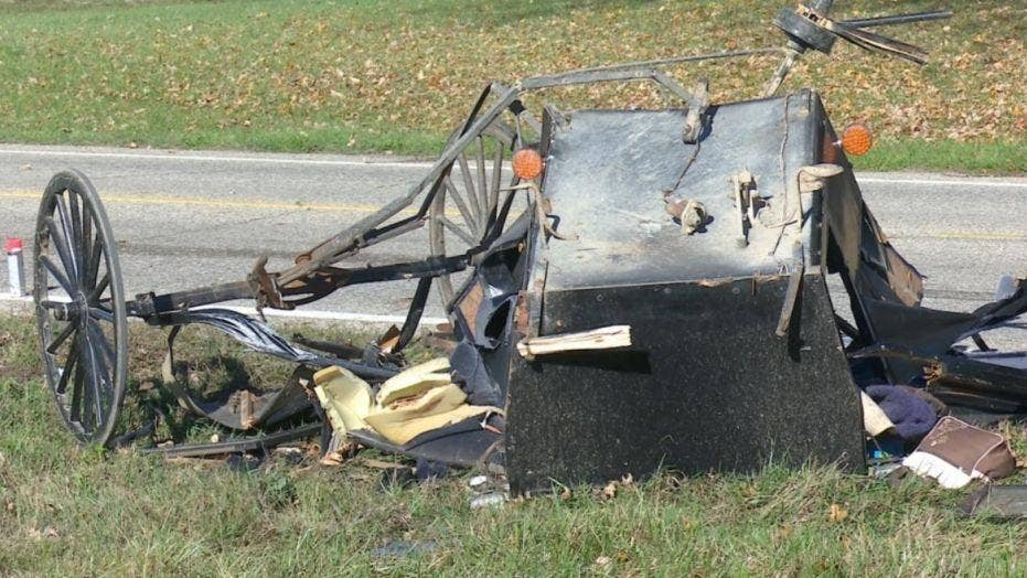 3 children killed, 6 hurt after truck hits horse-drawn buggy